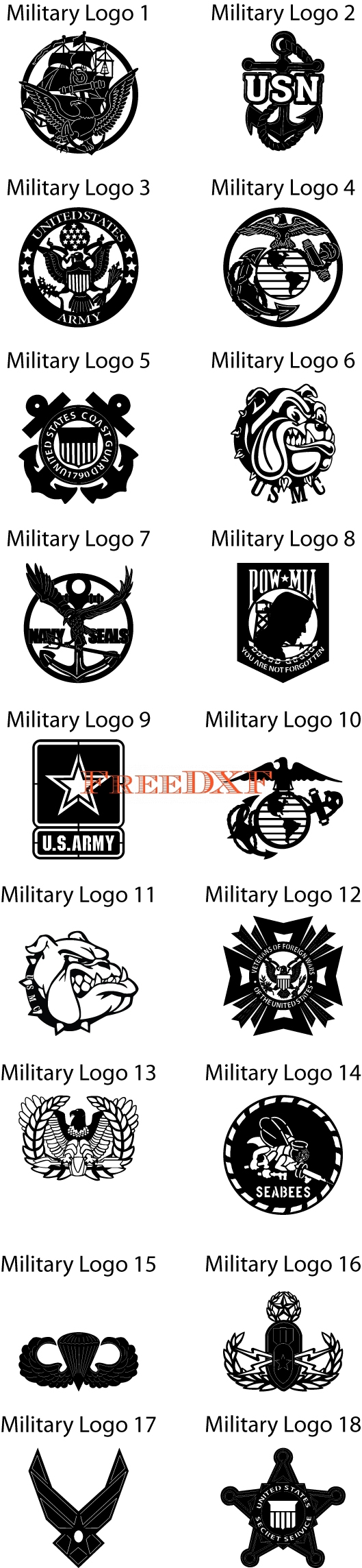 how to make military logo