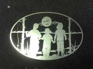 fishing oval cut out