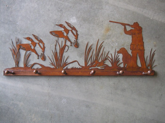 duck hunter coat rack